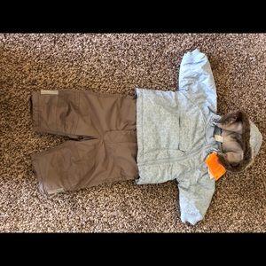 H&M baby fleece-lined snow jacket & bib overalls